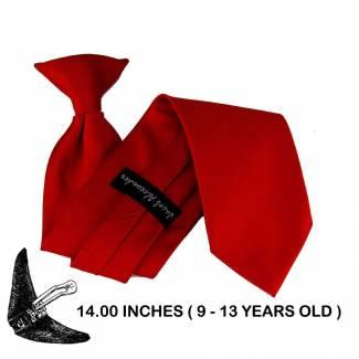 Boys (9-13 yr ) Clip On Tie Clip On Tie 14 inch