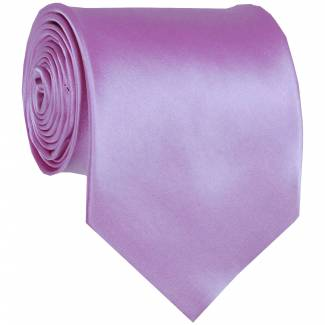 Lilac Mens Solid Tie Regular