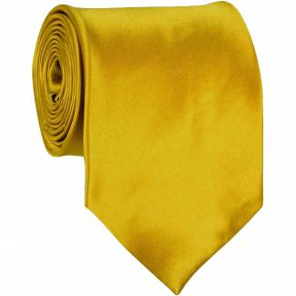 Gold Mens Solid Tie Regular