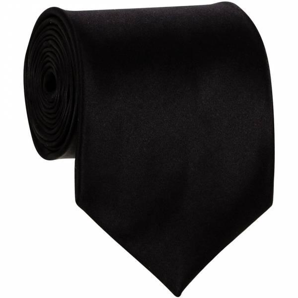 Black Mens Solid Tie Regular