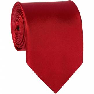 Red Mens Solid Tie Regular