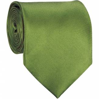 Olive Green Solid Tie Regular
