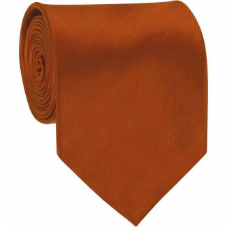 Solid Mens Tie Rust Regular