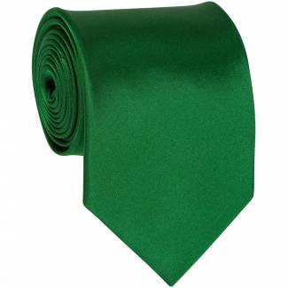 Green Solid Tie Regular