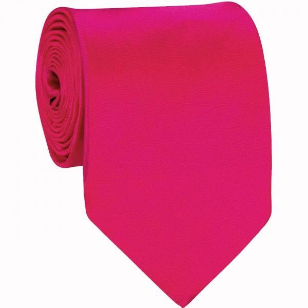 Fuchsia Mens Solid Tie Regular