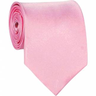 Pink Solid Tie Regular