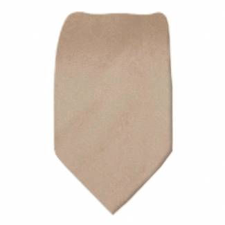 Solid Mens Tie Tan Regular