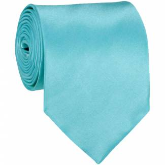 Turquoise Mens Solid Tie Regular