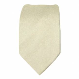 Solid Mens Tie Champagne Regular