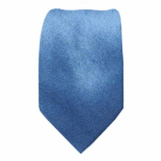 Solid Mens Tie Steel Blue Regular