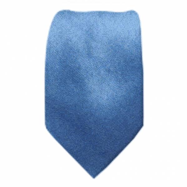 Solid Mens Tie Steel Blue Regular