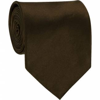 Cocoa Brown Solid Tie Regular