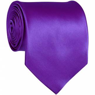 Violet Purple Solid Tie Regular