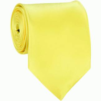 Yellow Solid Tie Regular
