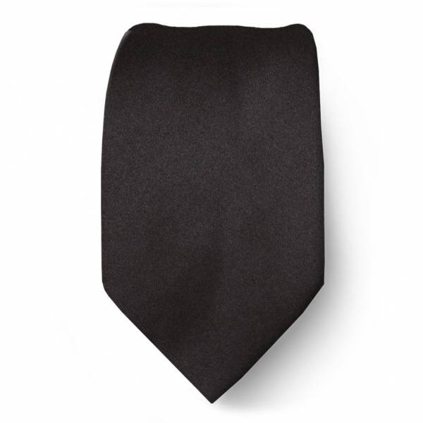 Black Boys Solid Tie Ties