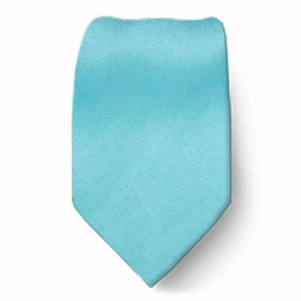Turquoise Boys Solid Tie Ties