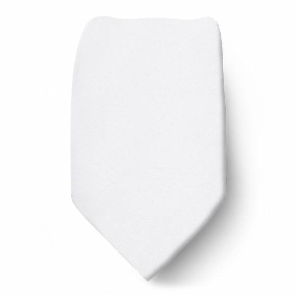White Boys Solid Tie Ties