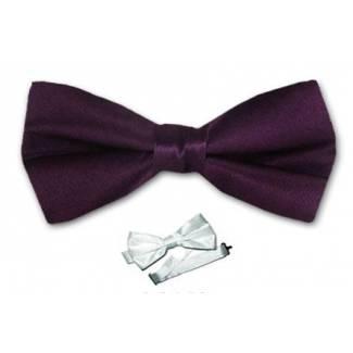 Eggplant Boys Bow Tie
