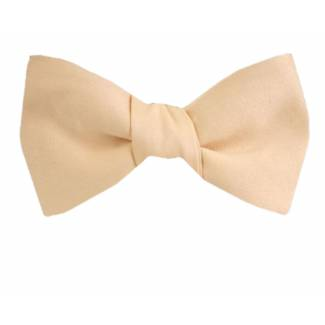 Self Tie Bow Tie Peach Self Tie