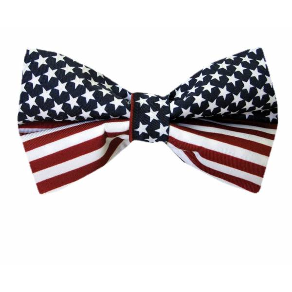 XL Flag Bow Tie Self Tie Big & Tall
