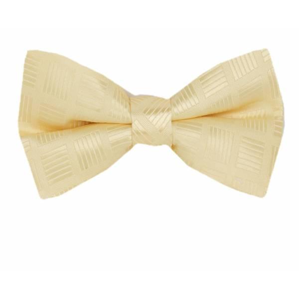 Cream Pre Tied Bow Tie Pre Tied