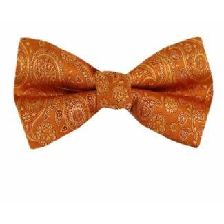 Orange Pre Tied Bow Tie