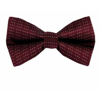 Burgundy Pre Tied Bow Tie