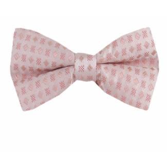 Peach Pre Tied Bow Tie