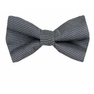 Black Silver Pre Tied Bow Tie