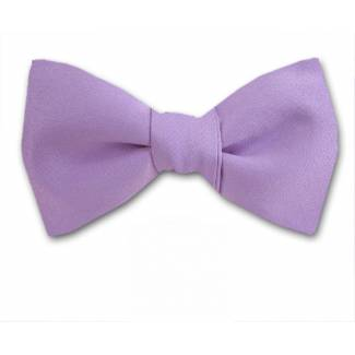 Lilac Solid Bow Tie