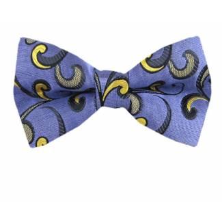 Lavender Gold Pre Tied Bow Tie