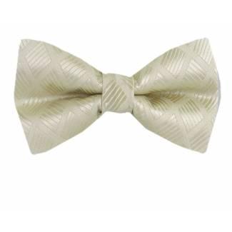 Cream Pre Tied Bow Tie