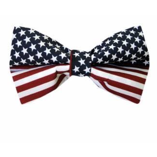 XL Flag Bow Tie Pre Tied Big & Tall