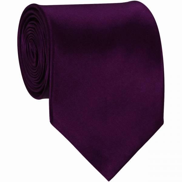 Eggplant XL Mens Tie