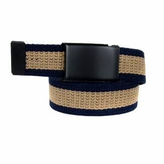 Made In U.S.A. Casual Stripe Belt