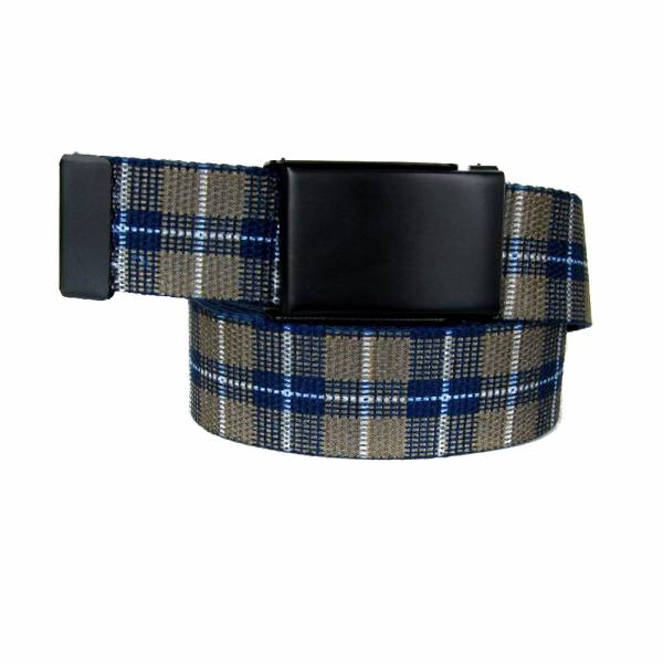 Made In U.S.A. Casual Plaid Belt