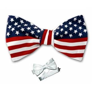 Pre Tied Flag Bow Tie