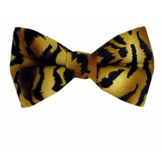 Tiger Print Bow Tie