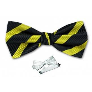 Stripe Pre Tied Bow Tie