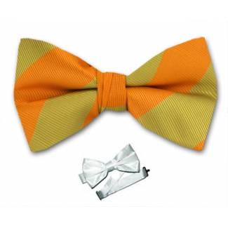 Pre Tied Striped Bow Tie