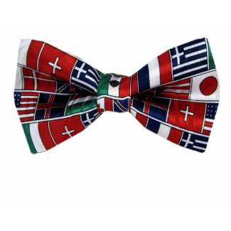 Flags Pre Tied Bow Tie