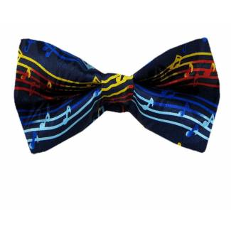 Musical Notes Pre Tied Bow Tie