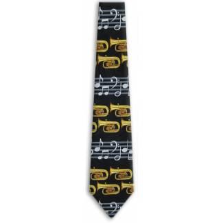 Wind Instrument Tie Music Ties