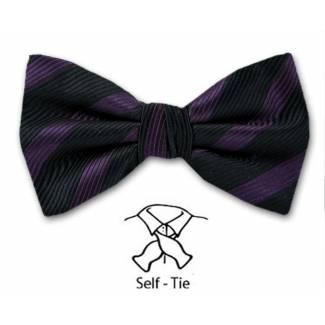 Stripe Bow Tie