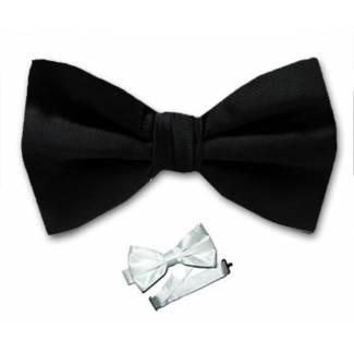 Black Pre Tied Bow Tie