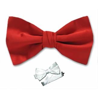 Red Pre Tied Bow Tie Microfiber