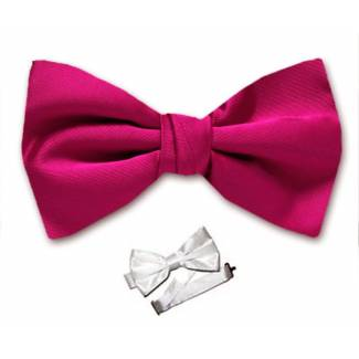 Fuchsia Pre Tied Bow Tie
