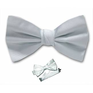 White Pre Tied Bow Tie