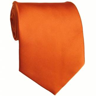 Orange Solid Tie Regular