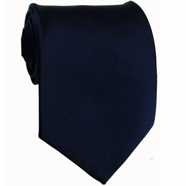 Navy Solid Tie Regular